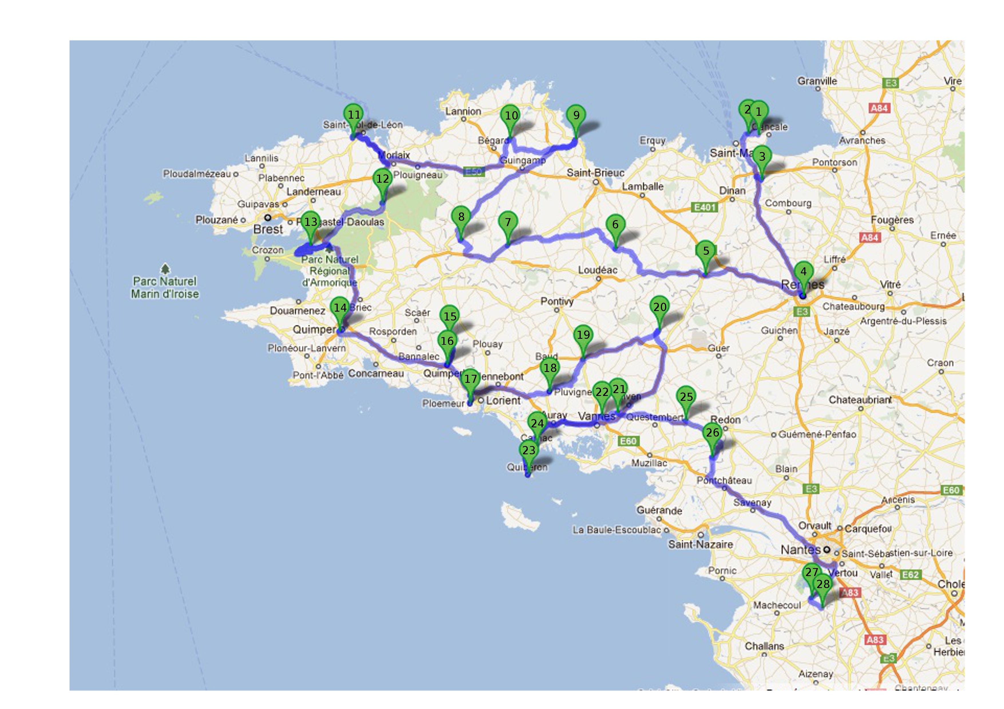 Une route du patrimoine colombannien breton
