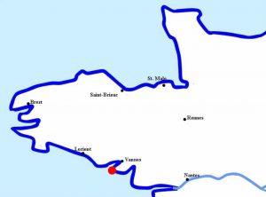 Carnac - cote sud de Bretagne
