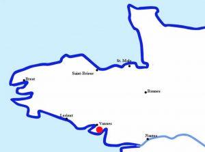 Localisation de Saint-Nolff proche de Vannes