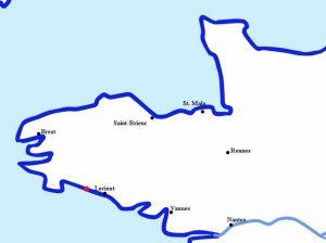 Quimperlé au nord-ouest de Lorient, dans le Finistère