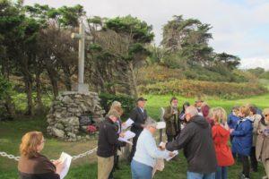 Prière devant la croix Saint Colomban