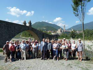 Les amis bretons de Colomban à Bobbio en 2015