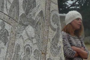 Cécile Maurage et sa fresque