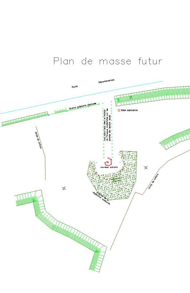 Plan de masse du site