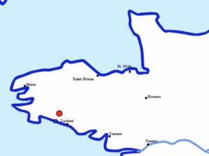 Quimperlé, au nord-ouest de Lorient
